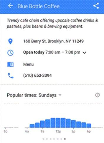 Google Now Shows Store and Restaurant Wait Times