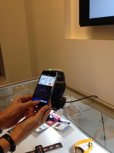 ApplePay NFC demonstration at MasterCard's NYC Technology Hub.