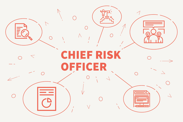 Chief Risk Officer (CRO) Typically an attorney handles this job, which covers more than just cyber risk. The CRO plays an important role in assessing how much cyber insurance the company should purchase and also assesses the company's regulatory risk.  From an IT security perspective, the CRO plays an advisory role in which they explain to the board what risks malware, exploits, and other hacking incidents present to the company and what the risk/reward scenarios are.   Image Source: Shutterstock via OpturaDesign