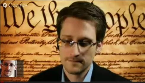Source: YouTube:  Click to watch Edward Snowden at SXSW