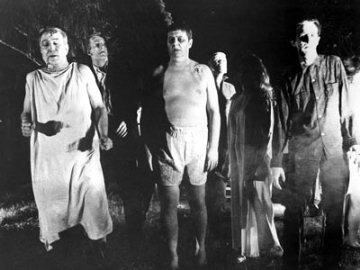 Zombies as portrayed in Night of the Living Dead.