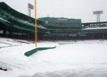 Photo of Fenway Park in Boston Feb. 10 by @EricLuallen