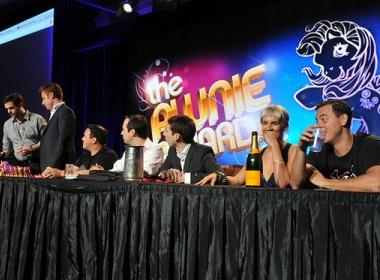 Pwnie judges at the awards dinner 