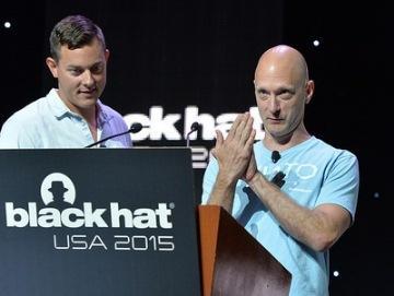 Car hackers Charlie Miller and Chris Valasek  Image Source: Black Hat Events