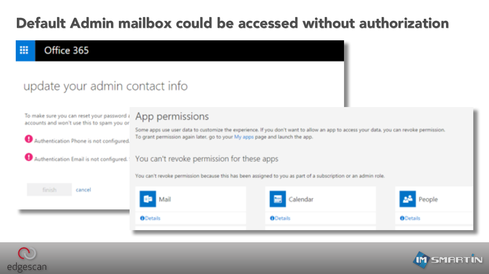 RISK: Default Admin mailbox could be accessed without authorization