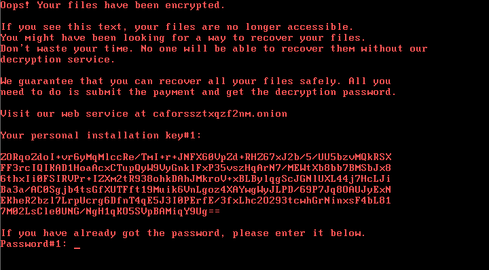 Bad Rabbit ransom message