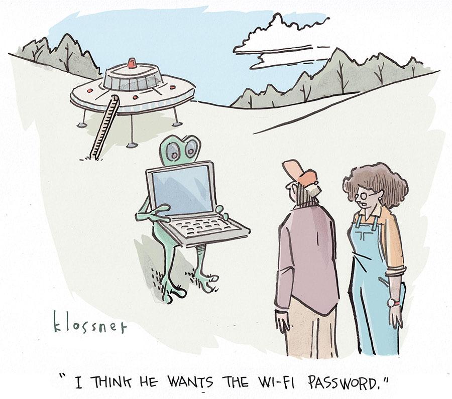 Cartoon Caption Winner: Greetings, Earthlings