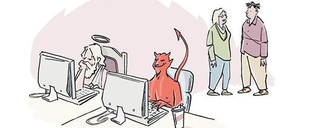 darkreading.com - Edge Editors - Cartoon Caption Winner: Be Careful Who You Trust
