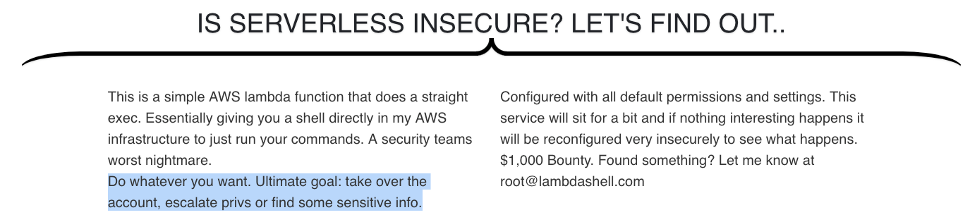 Securing Serverless: Attacking an AWS Account via a