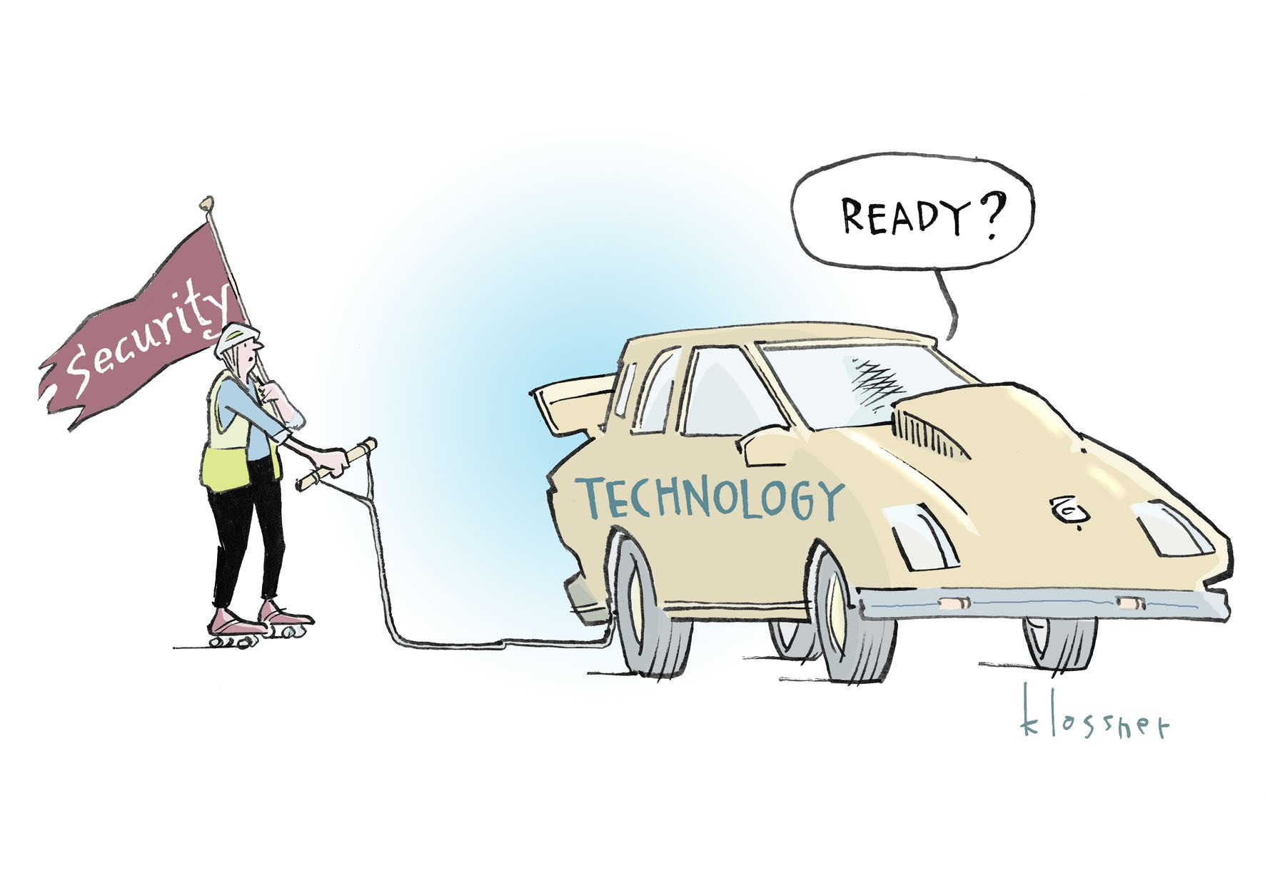 Cartoon: Connected Car Security