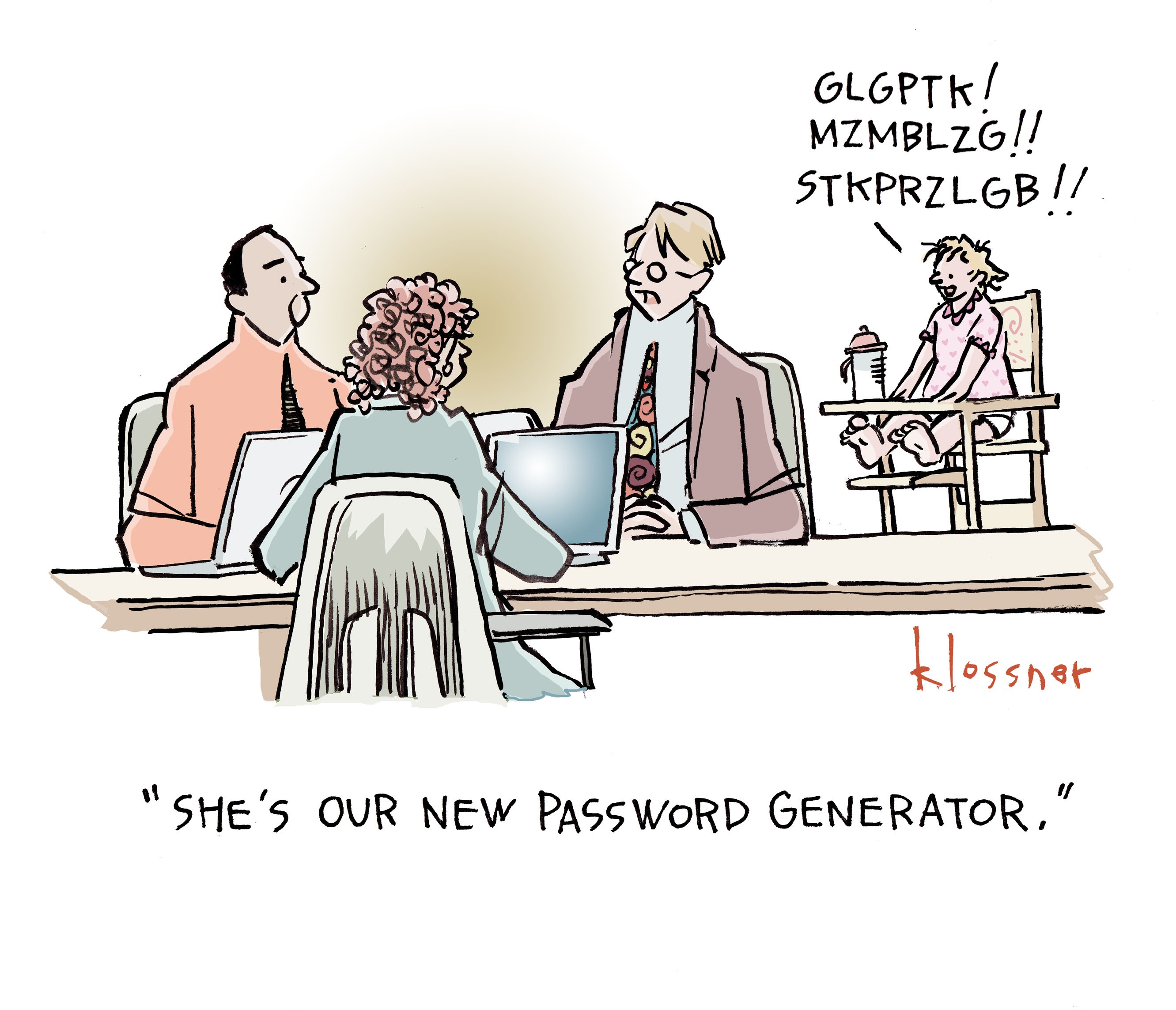 Cartoon: Password Generation Gap