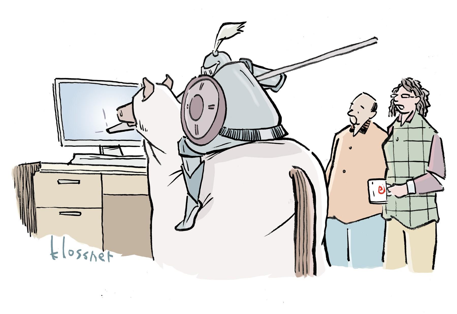 We provide the cartoon. You write the caption!
