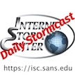 SANS Internet Storm Center Podcast  For those looking for a quick snippet of news to start their mornings, the SANS Stormcast provides a quick daily briefing (usually five minutes) of information security threat updates. The content is based on listener input, as well as input received in the SANS Internet Stormcenter. It's usually released early in the day, so you can listen as you get ready for work or during your morning commute.  Available on various platforms including iTunes, YouTube, Google Play, Stitcher, Amazon Echo, and Spotify. (Image: Internet Storm Center)