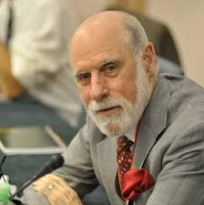 Vinton Cerf is credited with inventing the Internet, a worldwide network of thousands of computers and computer networks. It is a public, voluntary, and cooperative effort between the connected institutions and is not owned or operated by any single organization. The Internet and Transmission Control Protocols were initially developed in 1973 by Cerf as part of a project sponsored by the United States Department of Defense Advanced Research Projects Agency.   (Source: en.wikipedia.org)