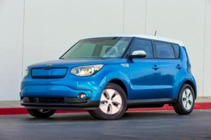 Kia's Soul EV offers an all-electric range of about 80 to 100 miles. The vehicle will hit the streets in California and Oregon in August. 