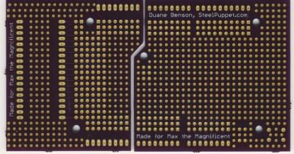 Bottom view of the Universal Screw-Block Proto-Shield PCBs.