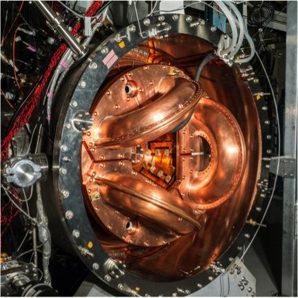 The University of Washington's current fusion experiment, HIT-SI3, is about one-tenth the size of the gigaWatt power-producing Dynomak that beats fossil fuels in energy efficiency.<br /> (Image: University of Washington)