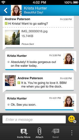 BBM for iPhone (Source: Apple iTunes Store)