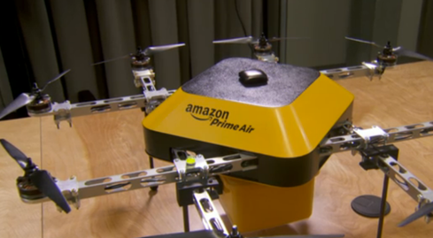 Amazon Prime Air quadcopter.