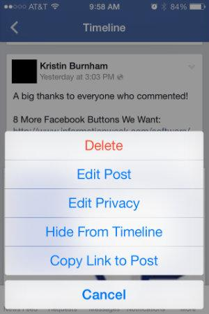 5 facebook iphone app headaches solved informationweek untag yourself from a photo your facebook app alerts you that your friend tagged you in seven unflattering photos while theres no quick and easy way to ccuart Images