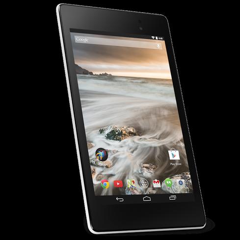 Google Play's white Nexus 7.
