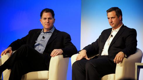 Dell CEO Michael Dell and Dell Enterprise Solutions Group president Marius Haas