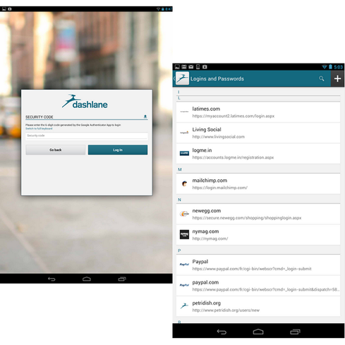 The Google Play Store abounds with free password managers that encrypt and safeguard sensitive personal information, but Dashlane is one of the best. It uses AES-256 encryption to store passwords, and it automatically enters login information and online forms (e.g., with names and mailing addresses). It saves encrypted data, including password, credit card, and other personal details, on your device or in the cloud. Its premium edition ($30 per year) allows you to sync data to all of your PCs (Windows or Mac), smartphones, and tablets. There are many worthy competitors in this crowded field, so you might want to check out Keeper, LastPass, and Norton Identity Safe, as well.