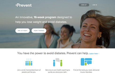 Omada's Prevent app for managing diabetes.