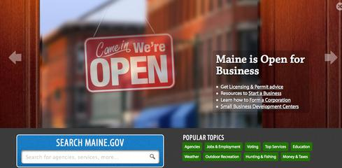 Maine's government website gives citizens easy access to state spending details through its Open Checkbook portal.