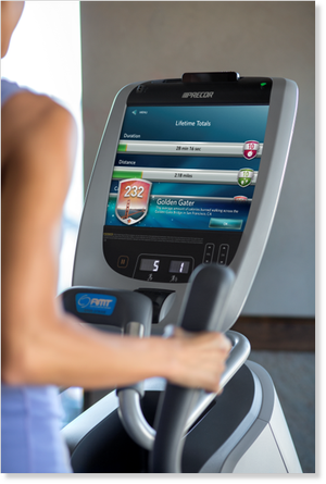 Preva exercise machines feature a touch screen console.