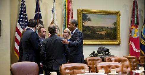 Technology executives met in December with President Obama.(Source: White House)