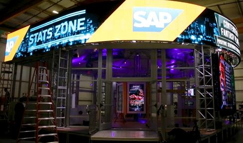 SAP Stats Zone under construction in a warehouse in Bethpage, NY.