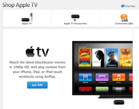Following recent changes, Apple now features Apple TV more prominently in its online store.