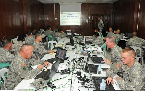 Joint Command Exercise.(Source: US Army CIO/G-6)
