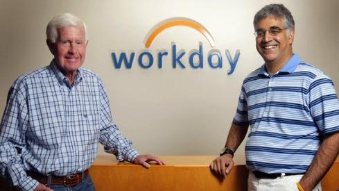 Workday co-founders Dave Duffield, left, and Aneel Bhusri.
