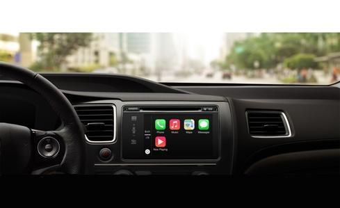 Apple CarPlay's home screen.