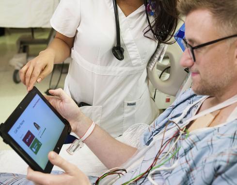 NewYork-Presbyterian's hospital-room tablet.