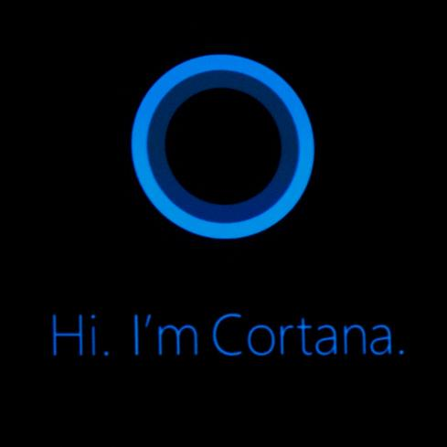 Cortana, Microsoft's answer to Siri and Google Now.