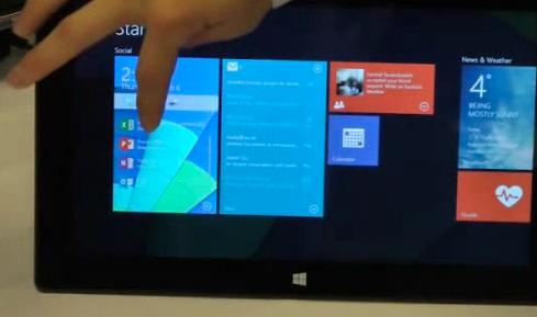 In a screenshot from Microsoft Research's now-removed video, Live Tiles can show deeper content, such as an email inbox, and even launch desktop applications.