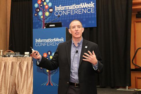 Andi Mann at the InformationWeek Conference, which was colocated with UBM Tech's Interop Las Vegas.