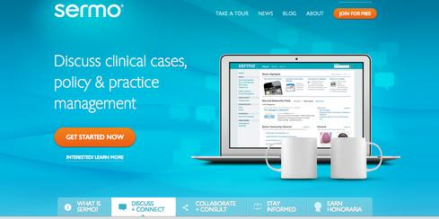 Sermo   Designed exclusively for physicians, Sermo provides its more than 260,000 members with clinical tools and resources embedded in its discussion forums. Doctors crowdsource insights and collaborate on patient cases and other medical topics to improve healthcare delivery and patient outcomes.   'Members have access to over 35% of the US physician population to engage in discussion on any healthcare topic in an open collaborative environment. On a typical patient case, this can easily result in 200+ years of combined medical education converging on an individual patient case within hours at zero cost,' says Jon Michaeli, SVP of global community and marketing. 'Also on Sermo, physicians can participate in market research studies for honoraria. Sermo pays out over $20 million in honoraria to doctors on an annual basis.'   (Image: Sermo)