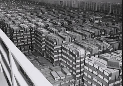 NARA records warehouse, circa 1959. (Source: NARA)