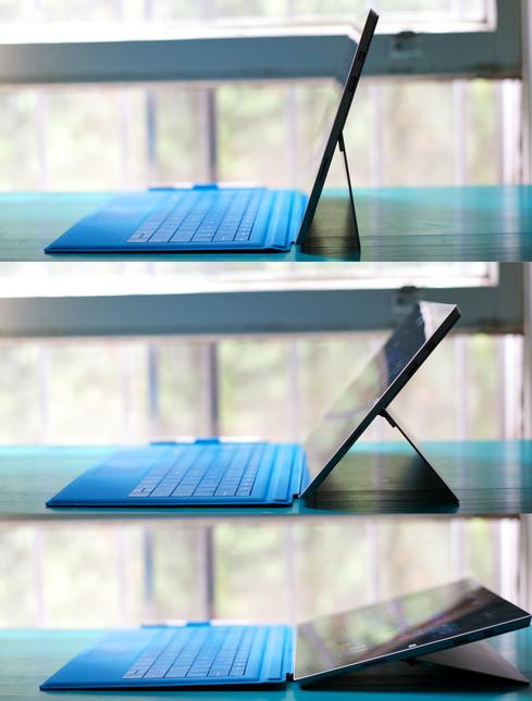 The Surface Pro 3's kickstand is a major improvement.