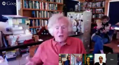 Lieutenant Don Walsh, pioneering deep sea explorer and oceanographer, participates in a We the Geeks hangout.