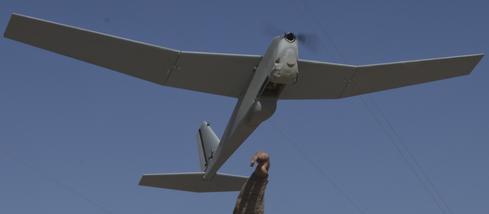 An AeroVironment RQ-20 Puma drone.