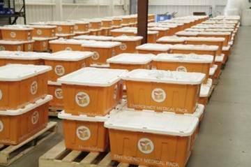Direct Relief hurricane preparedness packs.