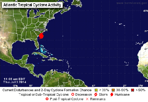 Track the storm (Source: National Hurricane Center, NOAA)