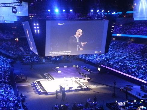 Microsoft CEO Satya Nadella at the Worldwide Partner Conference 2014