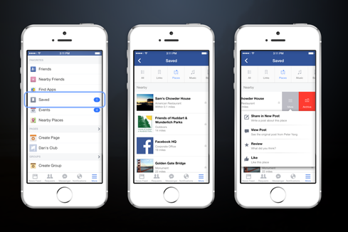Facebook's Save Button Bookmarks Content For Later