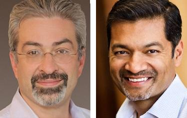 MongoDB CEO Max Schireson, left, and his successor, Dev Ittycheria.